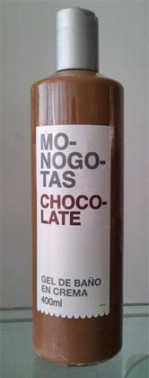Gel de baño de chocolate