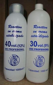 Agua oxigenada para tinte