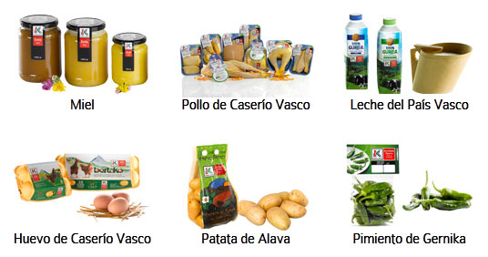 Productos Euskal Label