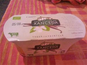 Yogur ecológico sabor vainilla
