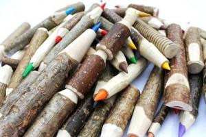 lápices ecológicos de madera